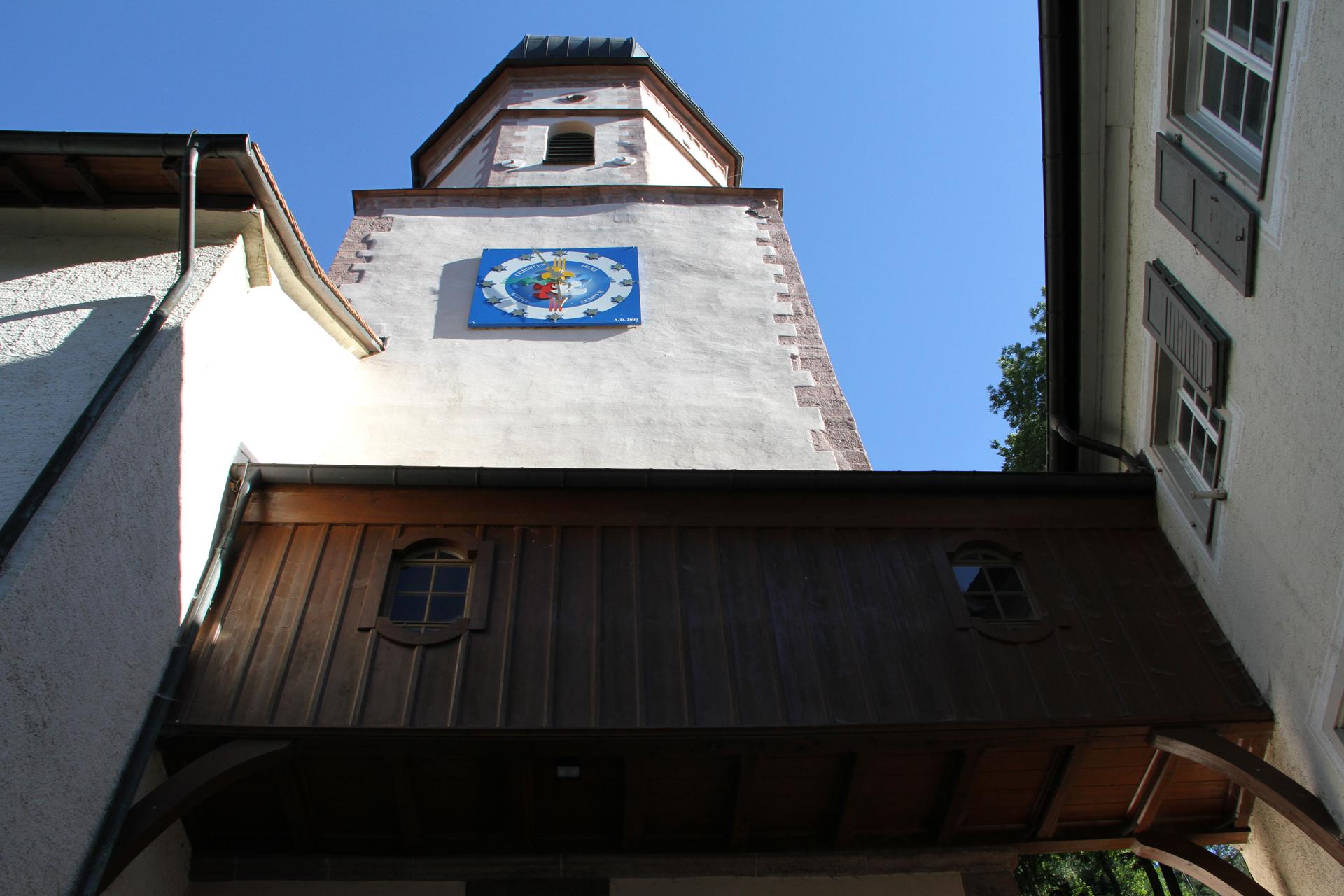 """Wallfahrtkirche """"Maria in der Tanne"""" - Jubiläumsuhr"""